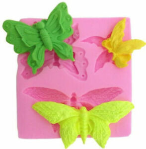 Butterfly Assortment 3 Cavity Silicone Mold