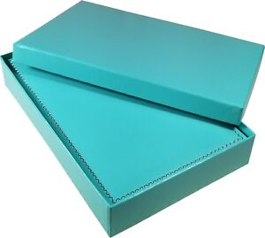Large Turquoise Necklace Box Jewelry Storage Organizer Display Case Holder
