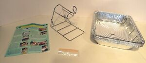 Chicken Roasting Rack Kit Stainless Steel Healthy Oven Cooking Holder Baking NEW