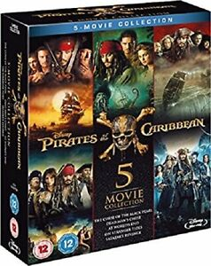 Pirates of the Caribbean Complete Collection Blu ray $25.48