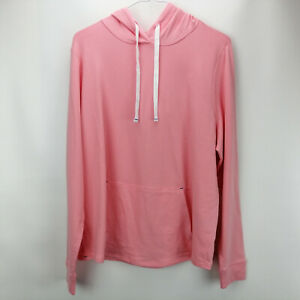 AnyBody Cozy Knit Light French Terry Hoodie Melon M A306955