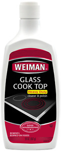 Weiman Glass Cooktop Heavy Duty Cleaner and Polish - 20 Ounce - Non-Abrasive 137