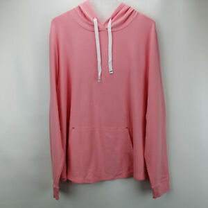 AnyBody Cozy Knit Light French Terry Hoodie Melon XL A306955