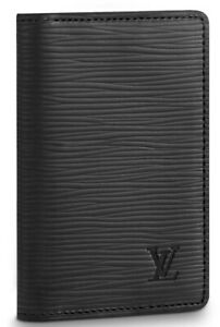 LOUIS VUITTON MENS POCKET ORGANIZER. EPI LEATHER COLOR NOIR. STYLE # M60642