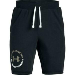 NWT Under Armour Youth Boys Rival Terry Shorts Black MSRP:$30 Free Ship $15.99