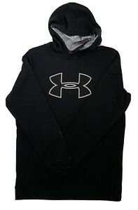 Men's S Under Armor Cold Gear Hoodie Black And Gray New w Tags $25.50