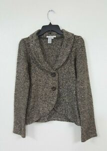 CAbi Soft Tweed Style 2 Button Blazer Coat Jacket Women#x27;s Size XS