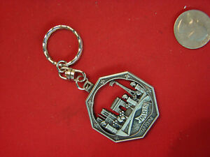 PARIS PEWTER ORNATE MADE IN FRANCE FOB RARE KEY CHAIN 759D $5.99
