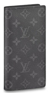 LOUIS VUITTON MENS BRAZZA WALLET. MONOGRAM ECLIPSE CANVAS. STYLE # M61697