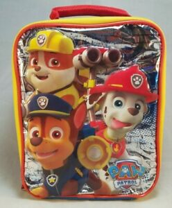 Paw Patrol Insulated Lunch Box School Soft Bag Marshall Rubble Chase