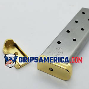 1 X Colt 1911 Magazine plate 45ACP 8 Round Metal Base Pad Gold plated $22.49