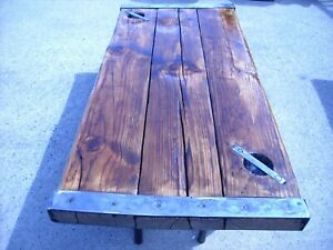 HATCH COVER antique shipsrefinished with legs $1200.00