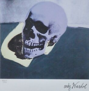 ANDY WARHOL SKULL PURPLE SIGNED + HAND NUMBERED 41585000 LITHOGRAPH $198.00