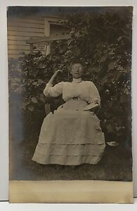 RPPC Victorian in The Garden Those Glasses c1907 Real Photo Postcard G6 $5.94
