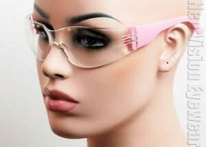 ERB Lucy Pink Frame Clear Anti Fog Lens Safety Glasses Womens Z87 17946 $6.80