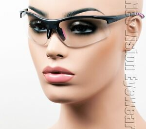 ERB Ella Gray Pink Clear Lens Safety Glasses Womens Motorcycle Z87 $10.54