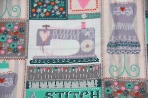 Sewing Stitch In Time Crafts Sew Machine 44quot; Wide Cotton Fabric BTY $6.26