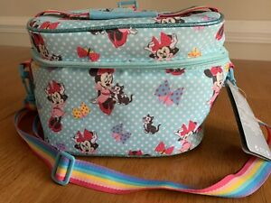 NWT Minnie Mouse Disney Soft Insulated Lunch Bag Adjustable Shoulder Strap