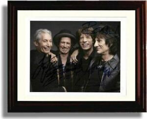 Framed Rolling Stones Autograph Promo Print
