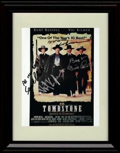 Framed Tombstone Autograph Promo Print - Cast