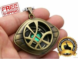 Marvel Avengers Doctor Strange Infinity Time Stone Necklace Figure Chain Gifts $6.99