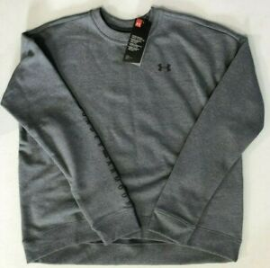 Women's SZ Small UNDER ARMOUR Gray Crew Sweatshirt New loose fit $24.99