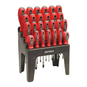 Great Working Tools 26 Piece Screwdriver Set - Magnetic Steel Tip Blades
