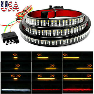 6 Modes 3Row 432 LED Truck Tailgate Light Bar Strip Brake Reverse Signal Tail US