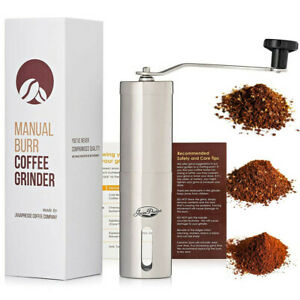 JavaPresse Manual Burr Coffee Grinder Adjustable Cermaic Conical Mill Stainless