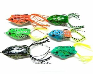 Lot 5pc Rubber Soft Bass Frog Baits Fishing Lures Top water 5.5cm 2.2inch 9g A2