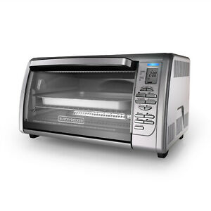 New BLACKDECKER Countertop Convection Toaster Oven Stainless Steel