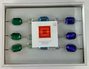 Isaac Mizrahi for Target Holiday Collection Garland Gem Style Green Blue 6 Feet