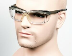 ERB All Day Clear Lens Safety Glasses Wrap Foam Padded Gray Black Z87 $12.29