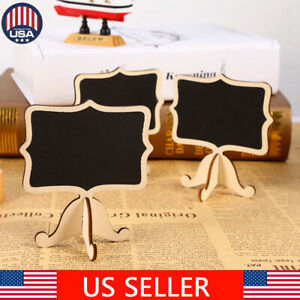 10-50x Mini Chalkboard Signs Small Wooden Blackboard & with Easel Stand Wedding