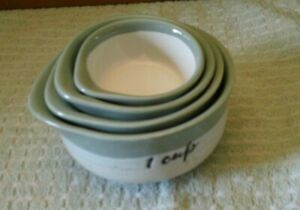 Sheffield Home Pale Green & Off-White Ceramic Measuring Bowls/Cups