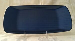 Norwegian Norway Blue Pin Stripe Enamel Tray