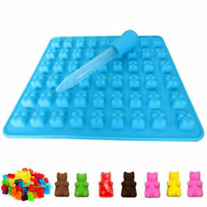 50 Gummy Maker Cavity Bear Mold Novelty Silicone Chocolate Candy Tray Ice Q3C3