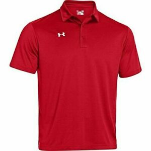 Under Armour UA Men's Performance Polo Shirt Red Short Sleeves Loose Red U Pick $26.99