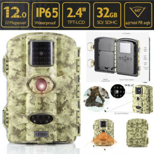 2.4 1080P Infrared IR 12MP Game Trail Stealth Night Vision Hunting Camera BT