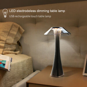 LED Slim Waist Stepless Dimming Desk Lamp USB Rechargeable Touch Table Light