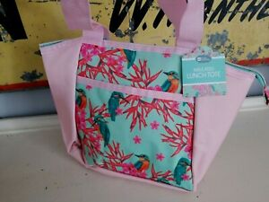Pink BIRD Soft Lunch Bag Box ~ Insulated Lunch Tote