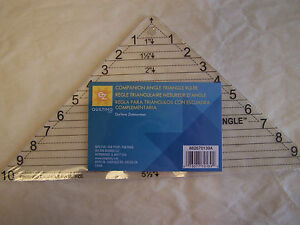 EZ Quilt Companion Angle Quilting Ruler Template 1 10 in Trigt; $13.59