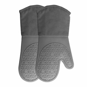 1 Pair Silicone Oven Mitt,Heat Resistant Pot Holders Heavy Duty Cooking Gl N1H9