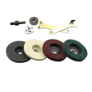 4 Inch Flap Disc Grinding Sanding Angle Grinder Wheel Sand Paper Set Tool Supply