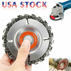 Grinder Disc Tooth Fine Chain Saw 4 Inch Angle Carving Culpting Wood Plastics FD