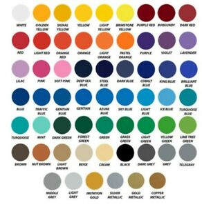 Oracal 651 vinyl Adhesive Vinyl 12quot; x 5ft Roll Assorted Colors Craft $8.75