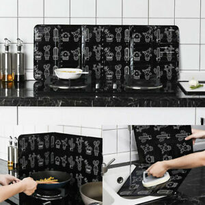 Folding Cooking Oil Splash Screen Cover Anti Splatter Stove Shield Guard C $6.03