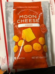 Moon Cheese Cheddar 100% Natural Cheese Crunchy Snack 10 OZ