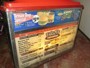 Vintage SONIC Fast food DRIVE-IN MENU Sign with Original speaker PICK UP ONLY
