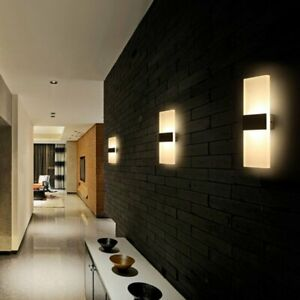 12W Modern LED Wall Lamp Up and Down Cube Sconce Light Indoor&Outdoor Waterproof